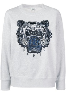 Kenzo beaded signature tiger head sweatshirt
