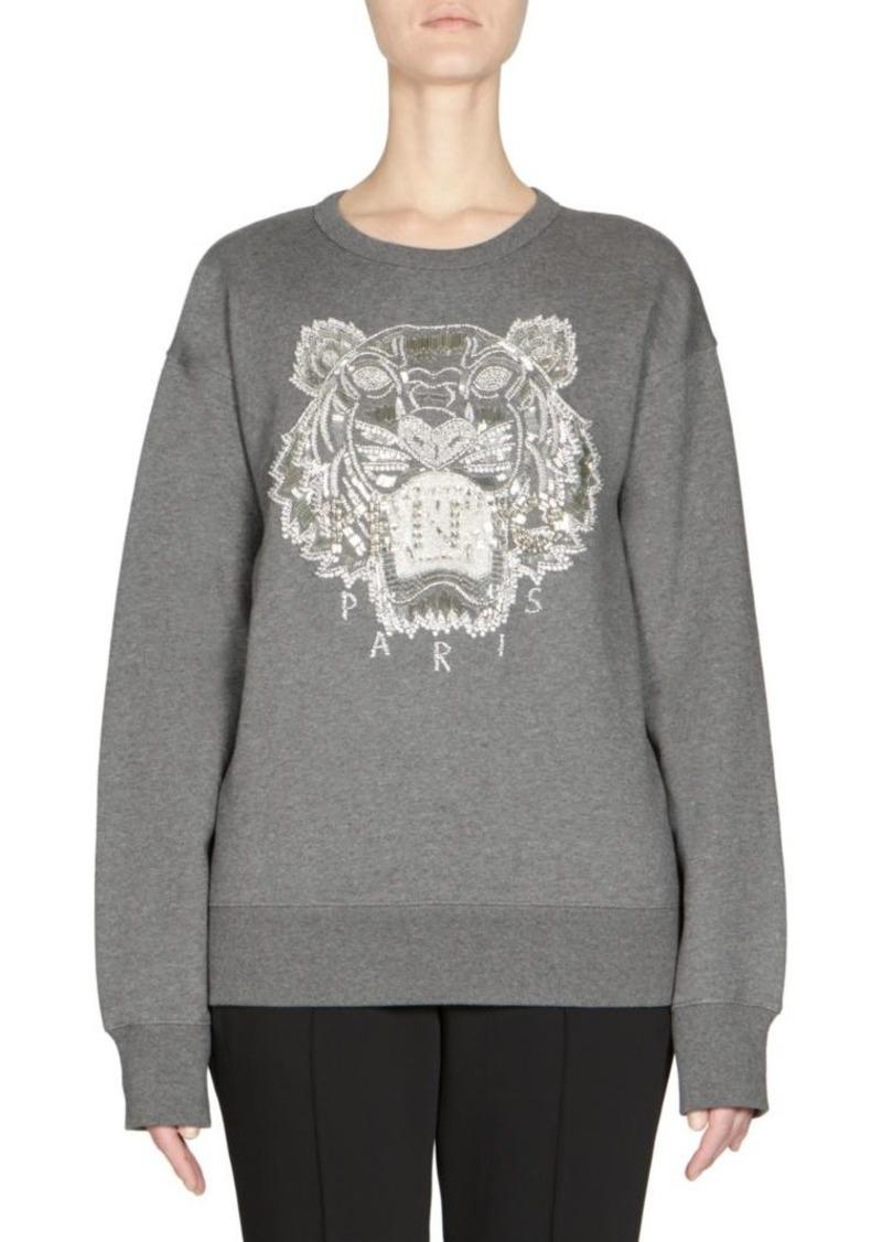 5fc4f81fdbd Kenzo Beaded Tiger Sweatshirt | Outerwear