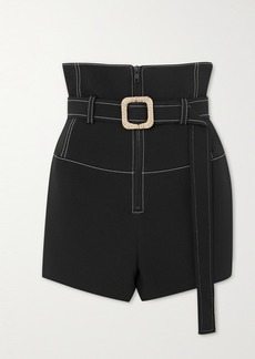 Kenzo Belted Topstitched Scuba Shorts