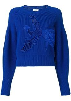 Kenzo bird embroidered sweater
