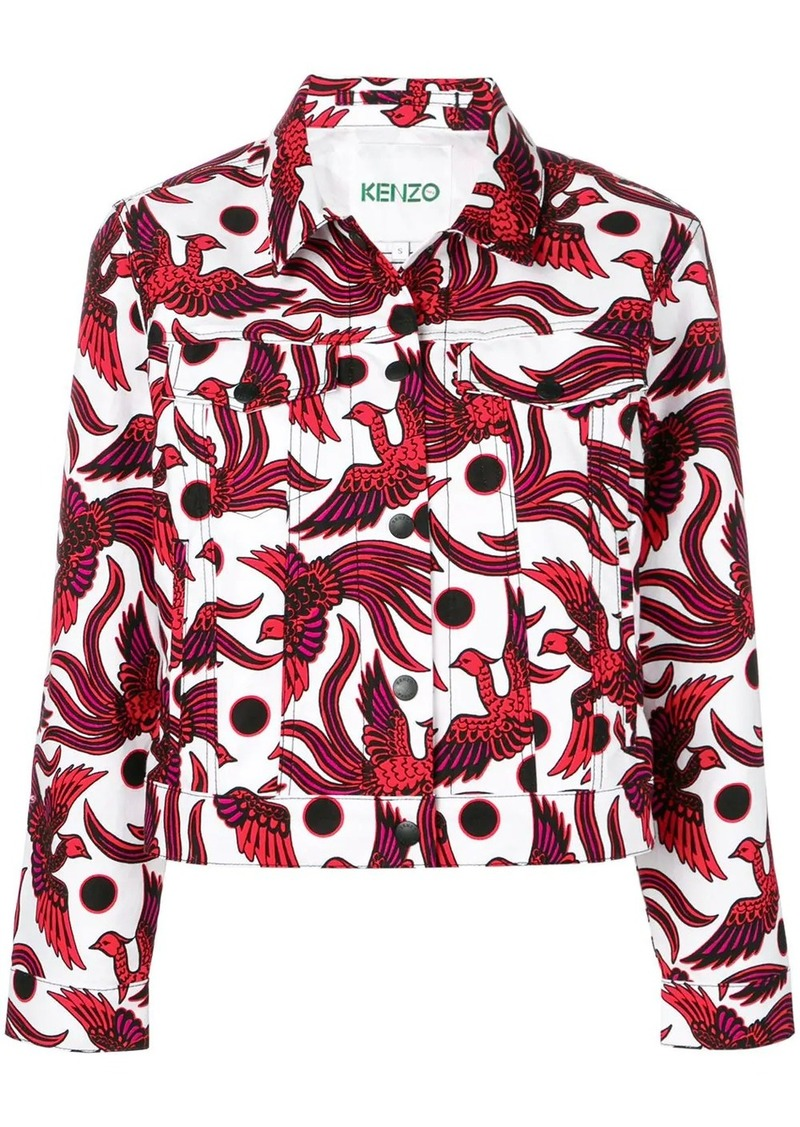 Kenzo bird-print denim jacket