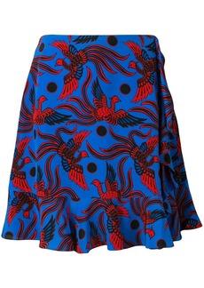 Kenzo bird print skirt