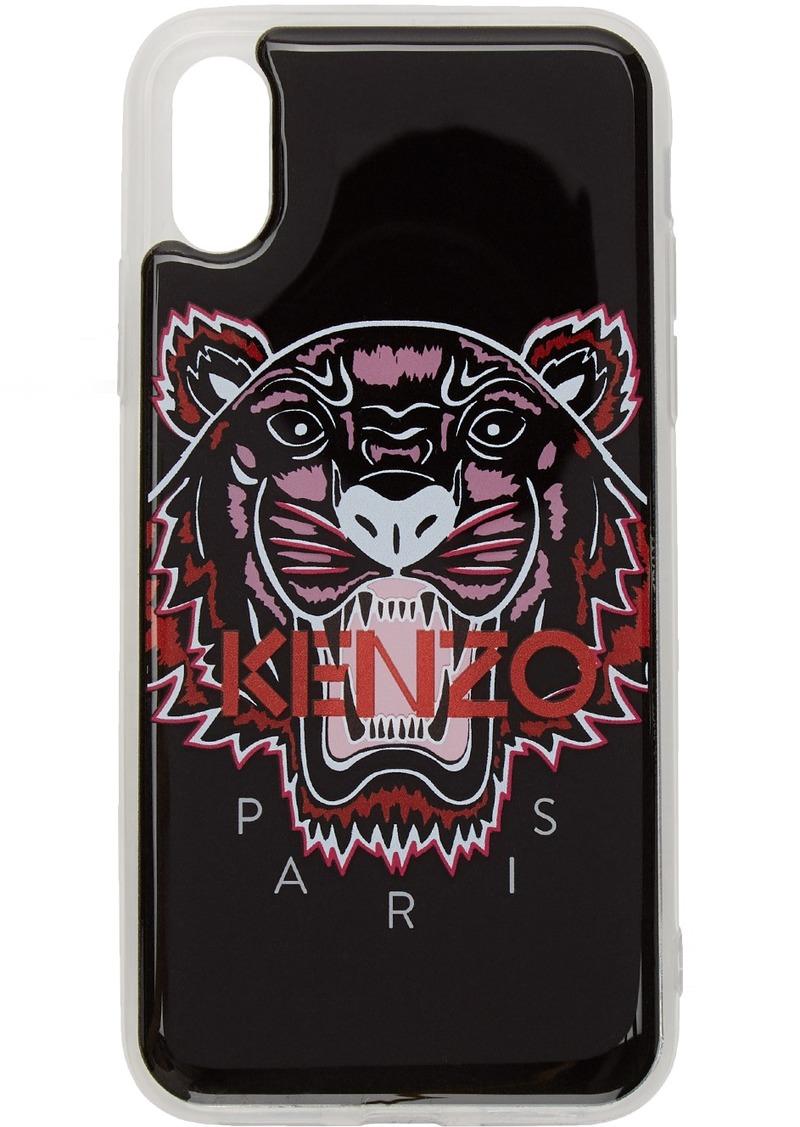 Kenzo Black 3D Tiger Logo iPhone X/XS Case