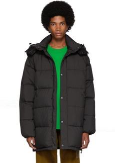 Kenzo Black Down 2-In-1 Long Puffer Jacket