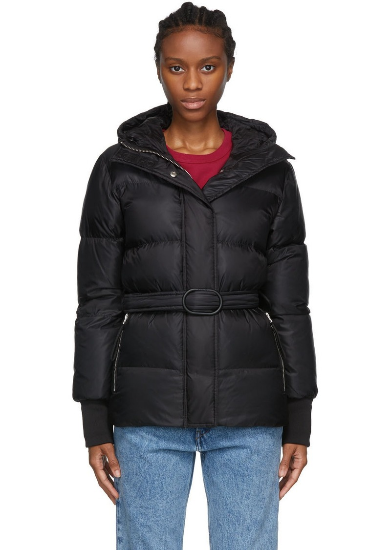 Kenzo Black Hooded Puffa Jacket