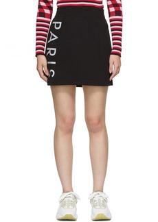 Kenzo Black Jog Sport Miniskirt