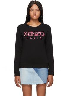 Black 'Kenzo Paris' Peonie Slim Sweatshirt
