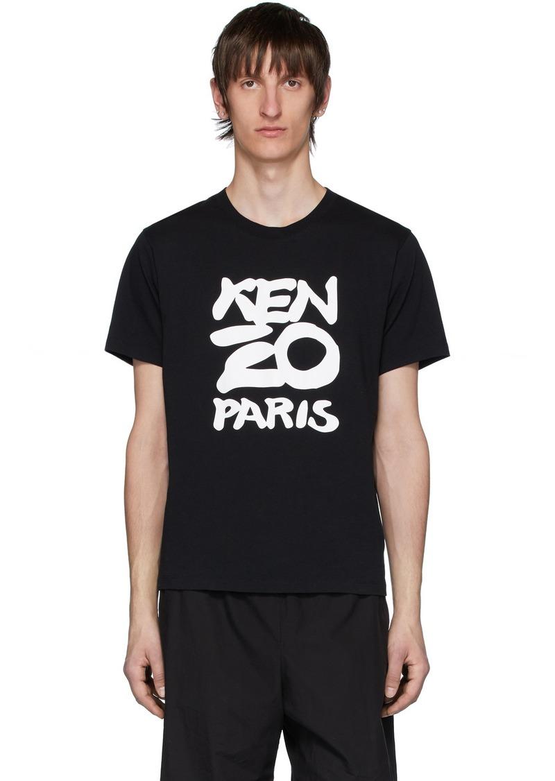 Black 'Kenzo Paris' T-Shirt