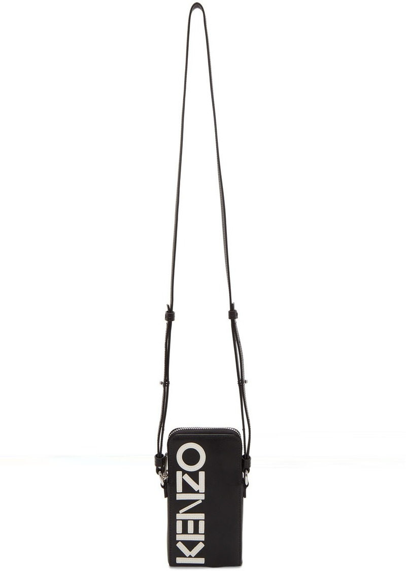 Kenzo Black Kontrast Zip Phone Bag
