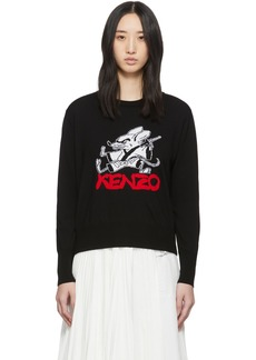 Kenzo Black Limited Edition Chinese New Year Kung Fu Rat Crewneck Sweater