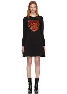 Kenzo Black Limited Edition Chinese New Year Tiger Sweatshirt Dress