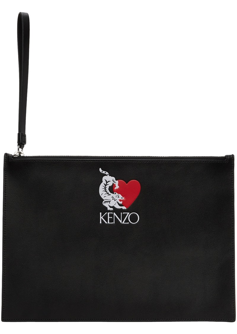 Kenzo Black Limited Edition Tiger Pouch