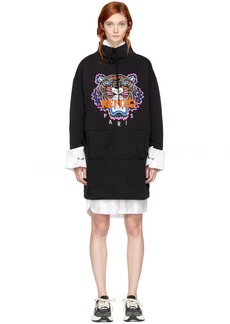 Kenzo Black Limited Editon Tiger Sweatshirt Dress
