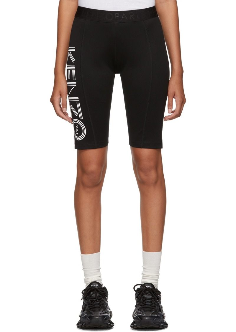 Kenzo Black Logo Sport Cyclist Shorts