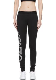 Kenzo Black Logo Sports Leggings