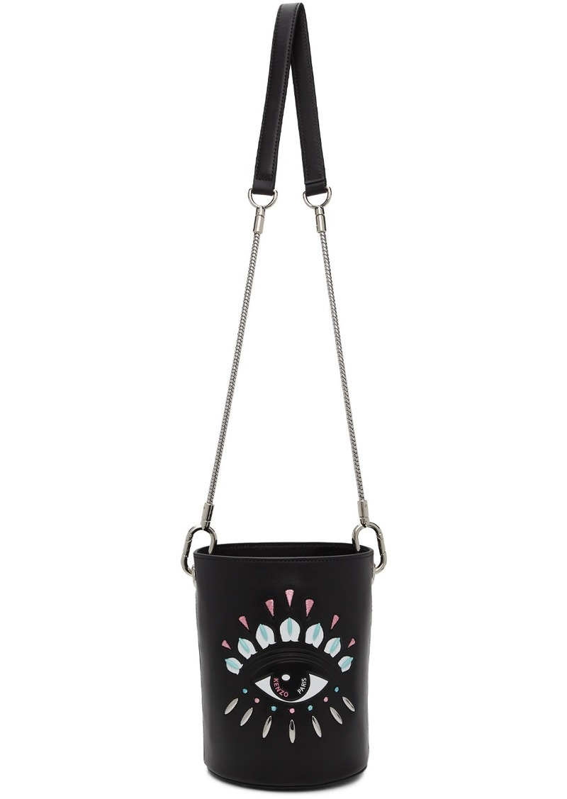 Kenzo Black Mini Eye Bucket Bag