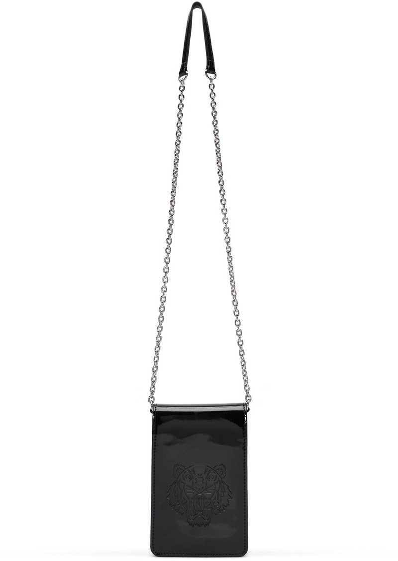 Kenzo Black Patent Phone Carrier Bag
