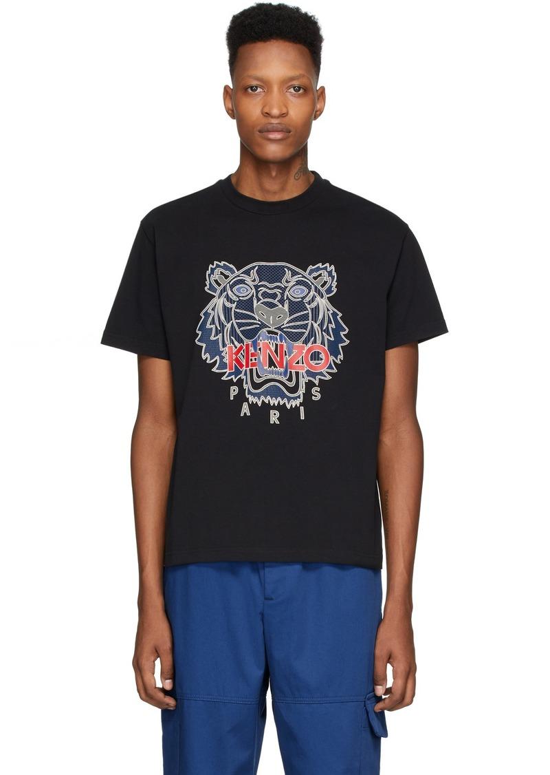 Kenzo Black Silicone Tiger T-Shirt
