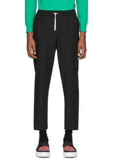 Kenzo Black Tapered Cropped Trousers
