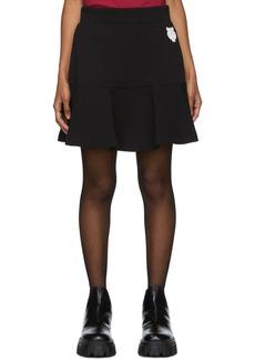 Kenzo Black Tiger Crest Flare Miniskirt