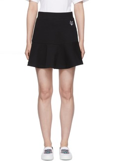 Kenzo Black Tiger Crest Flared Skirt