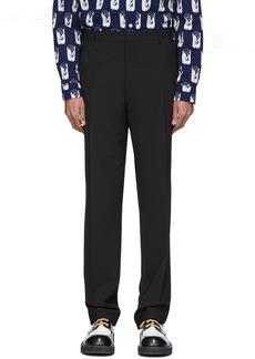 Kenzo Black Wool Formal Slim Trousers