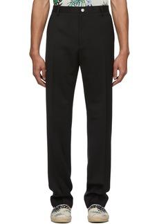 Kenzo Black Wool Urban Slim Trousers