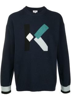 Kenzo block knit wool jumper