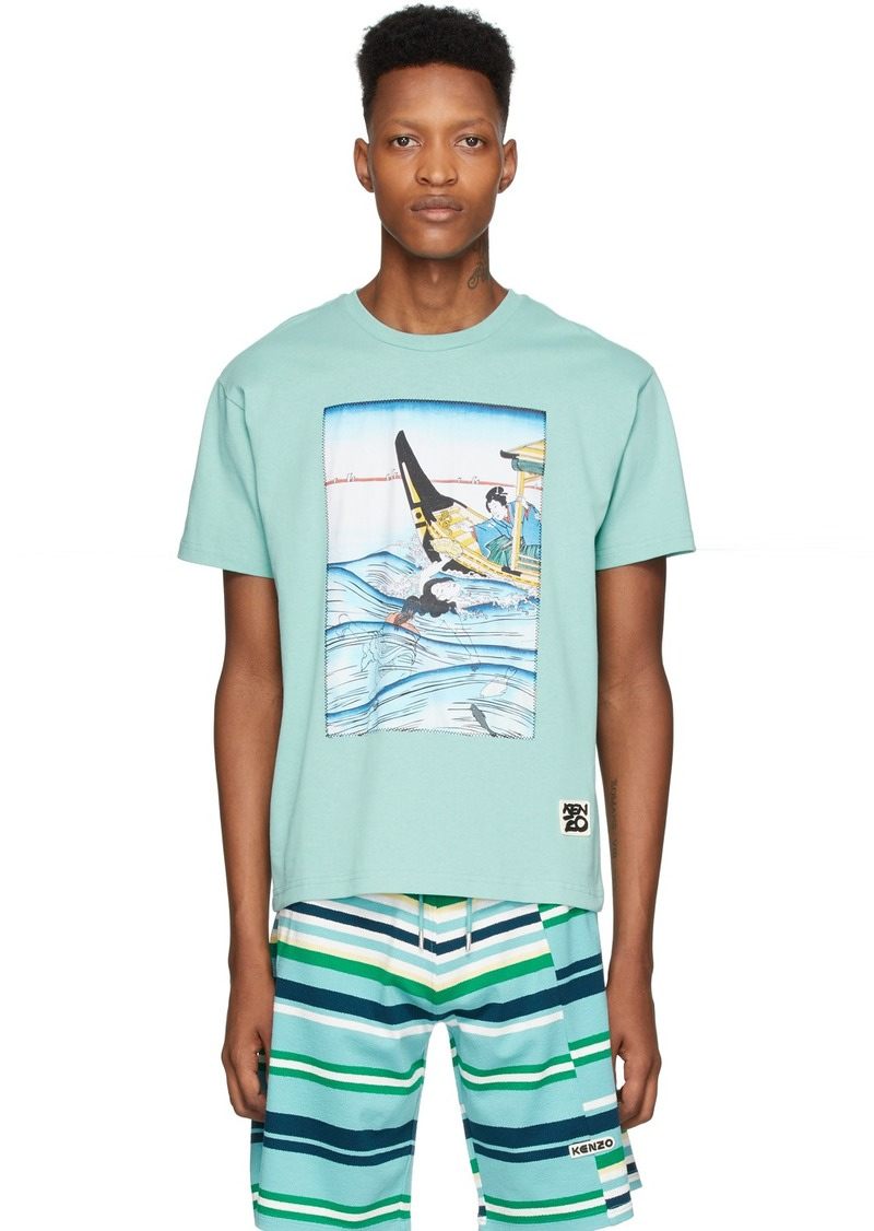 Kenzo Blue Ama Diver T-Shirt
