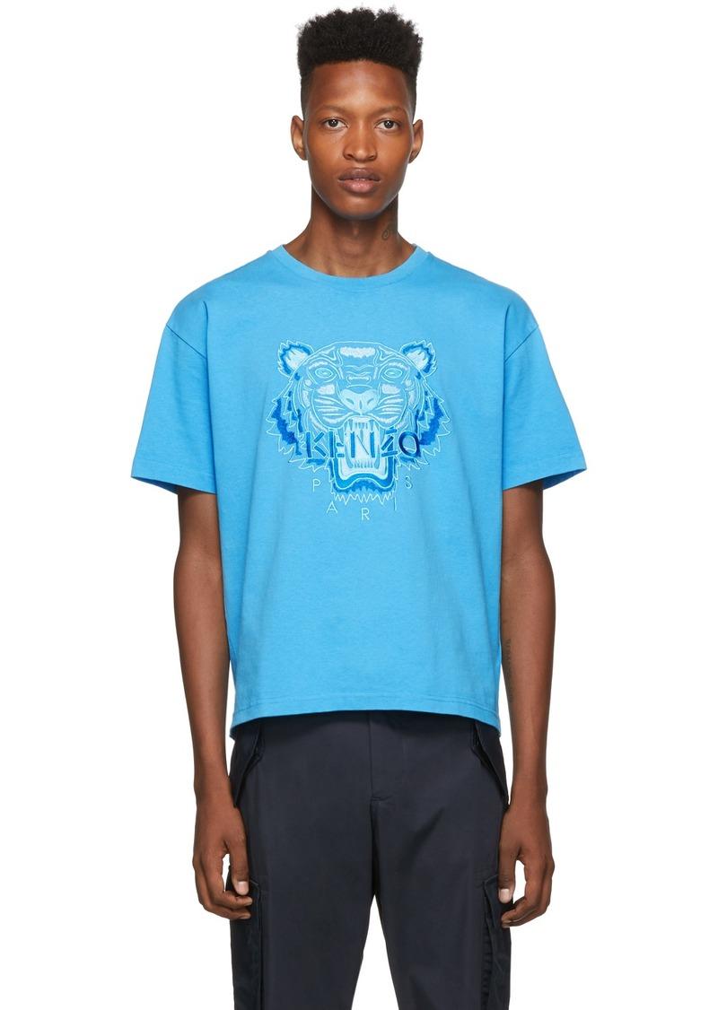 Kenzo Blue Icon Tonal Tiger T-Shirt