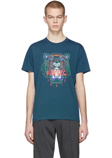 Kenzo Blue Limited Edition Holiday Tiger T-Shirt
