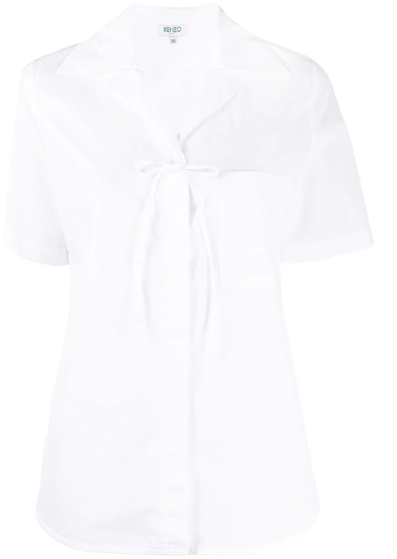 Kenzo bow-embellished short-sleeved shirt