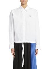 Kenzo Boxy Drawstring Button-Down Shirt