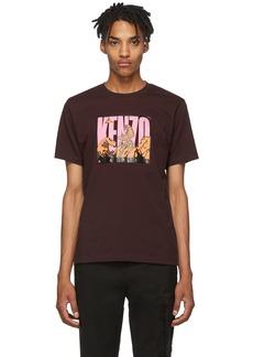 Kenzo Burgundy Tiger Mountain T-Shirt