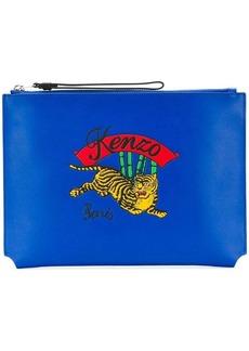 Kenzo Tiger zipped clutch bag