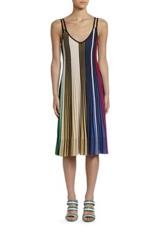 Kenzo Colorblock Rib-Knit Fit-&-Flare Dress