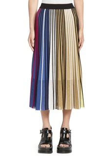 Kenzo Colorblock Ribbed A-Line Skirt