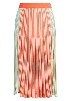 Kenzo Colorblock Ribbed Knit Midi Skirt