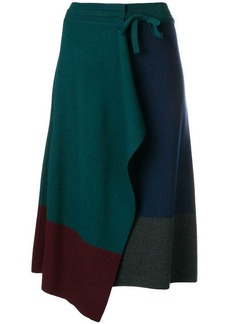 Kenzo colour block wrap skirt
