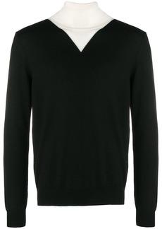 Kenzo colourblock roll neck sweater