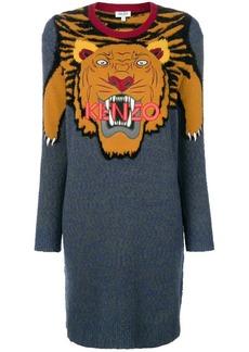 Kenzo colourblock Tiger sweater dress