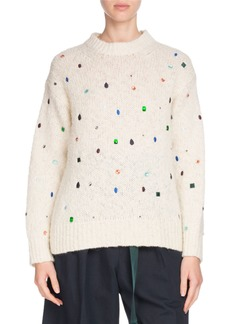 Kenzo Comfort Embellished Mock-Neck Sweater