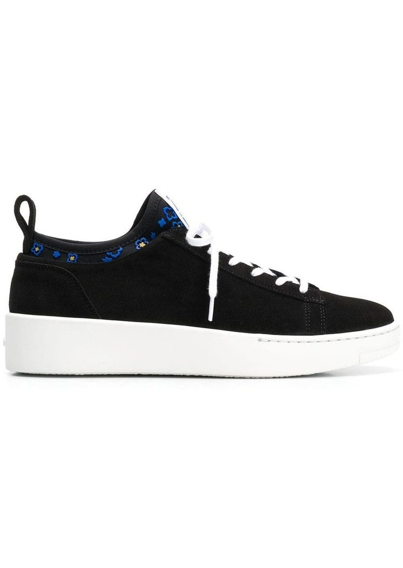 Kenzo contrast lace-up sneakers