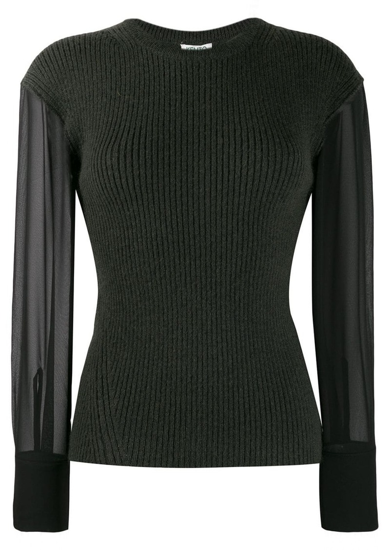 Kenzo contrast sleeve knitted top