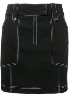 Kenzo contrast stitch mini skirt