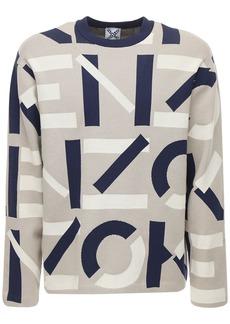 Kenzo Cotton & Nylon Jacquard Knit Sweater