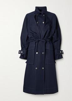 Kenzo Cotton And Linen-blend Gabardine Coat