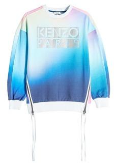 Kenzo Cotton Sweatshirt with Zipped Sides