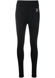 Kenzo crisscross logo print leggings
