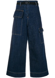 Kenzo cropped wide-legged jeans